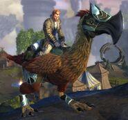 Armored axe beak