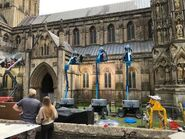 D&D movie Wells Cathedral shooting 3