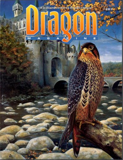 Dragon issues from 1994