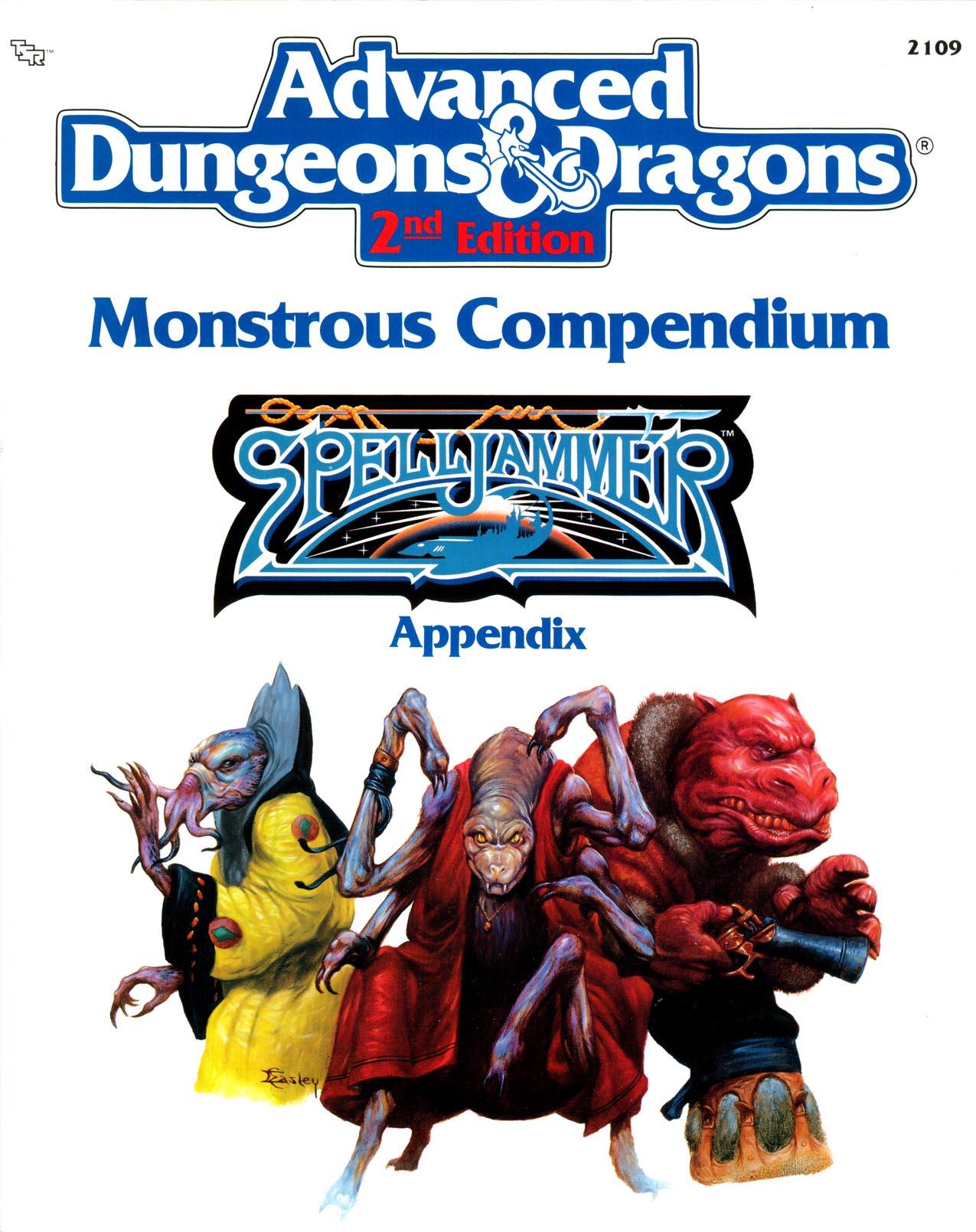 Monstrous Compendium Spelljammer Appendix 1