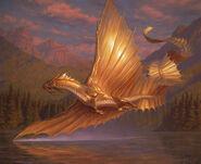 Adult Gold Dragon-MTG