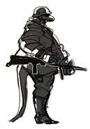 Berman concept art reptile soldier