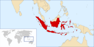 Map of the United Republic of Indonesia