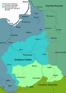 Map of Regency Poland