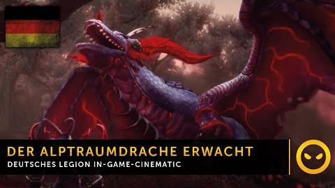 DE WoW Legion - In-Game-Cinematic Der Alptraumdrache erwacht in Val'sharah Vanion