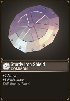 Sturdy Iron Shield