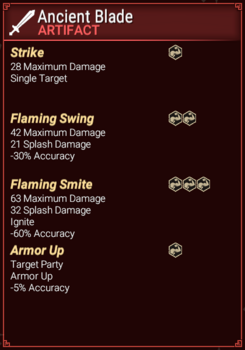Ancient Blade - Abilities