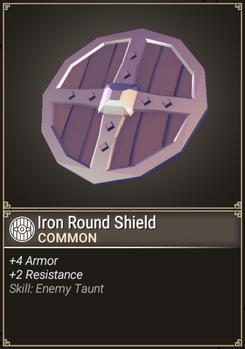 Iron Round Shield