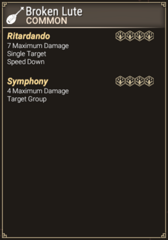 Broken Lute - Abilities