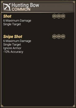 Hunting Bow - Abilities