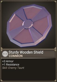 Sturdy Wooden Shield