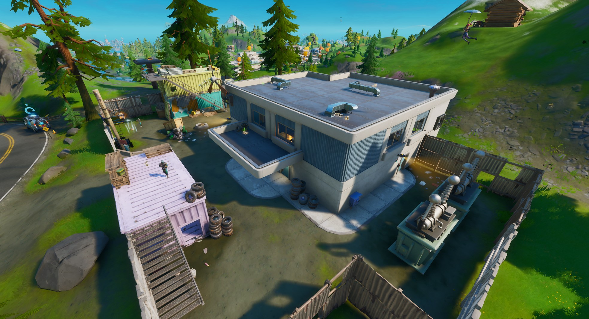 Catty Corner is the fifth best place to land in Fortnite. (Image: Epic Games)
