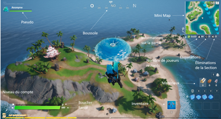 Gameplay sur Fortnite Battle Royale