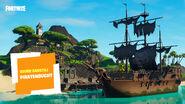 Fortnite Kreativmodus Piratenschiff-Fertigobjekte