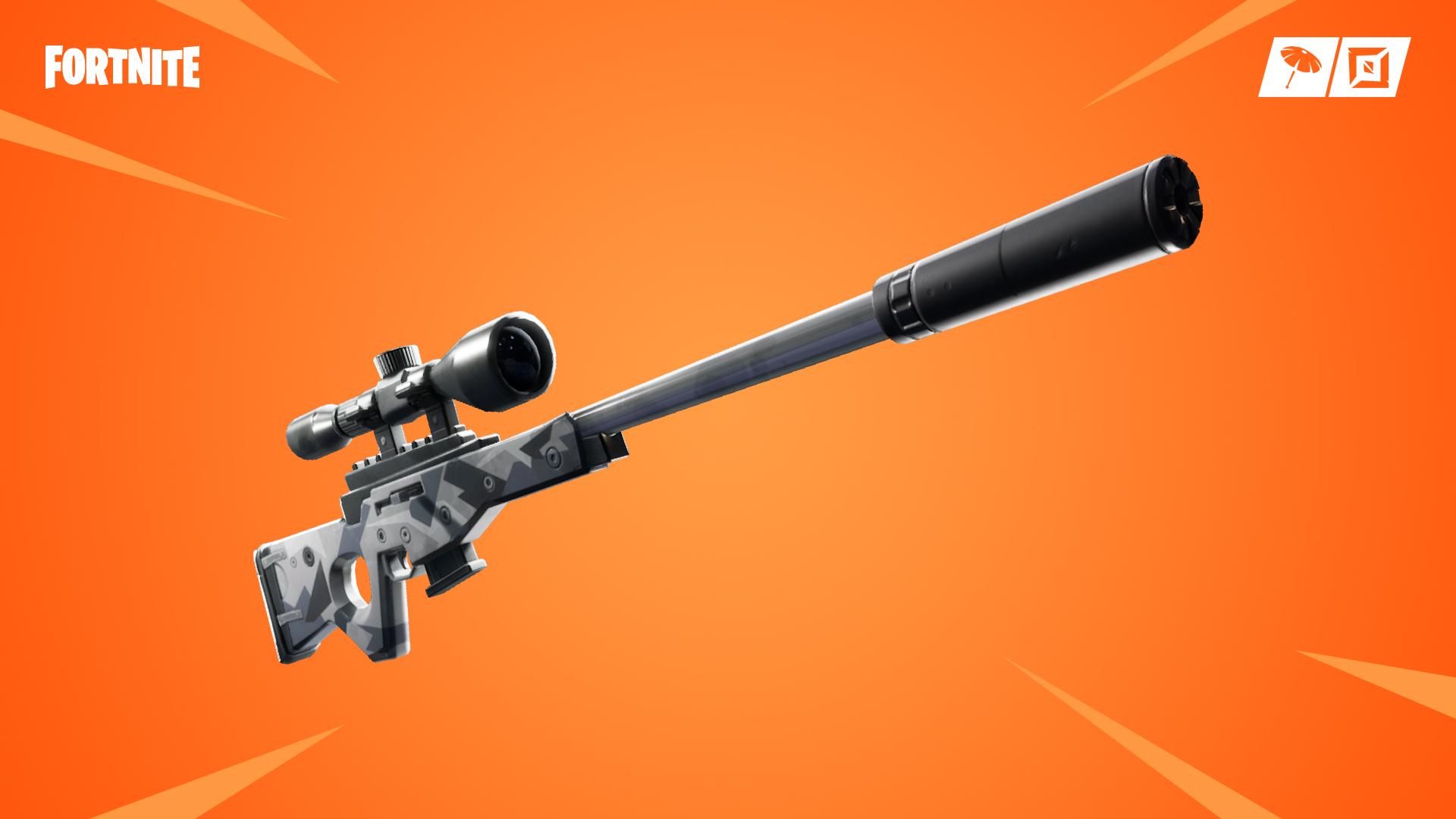 Fusil de sniper à silencieux