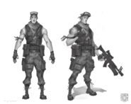 Male Soldier Prototype - Sketch - Fortnite