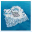 Île forteresse givrée