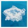 Île au lac gelé