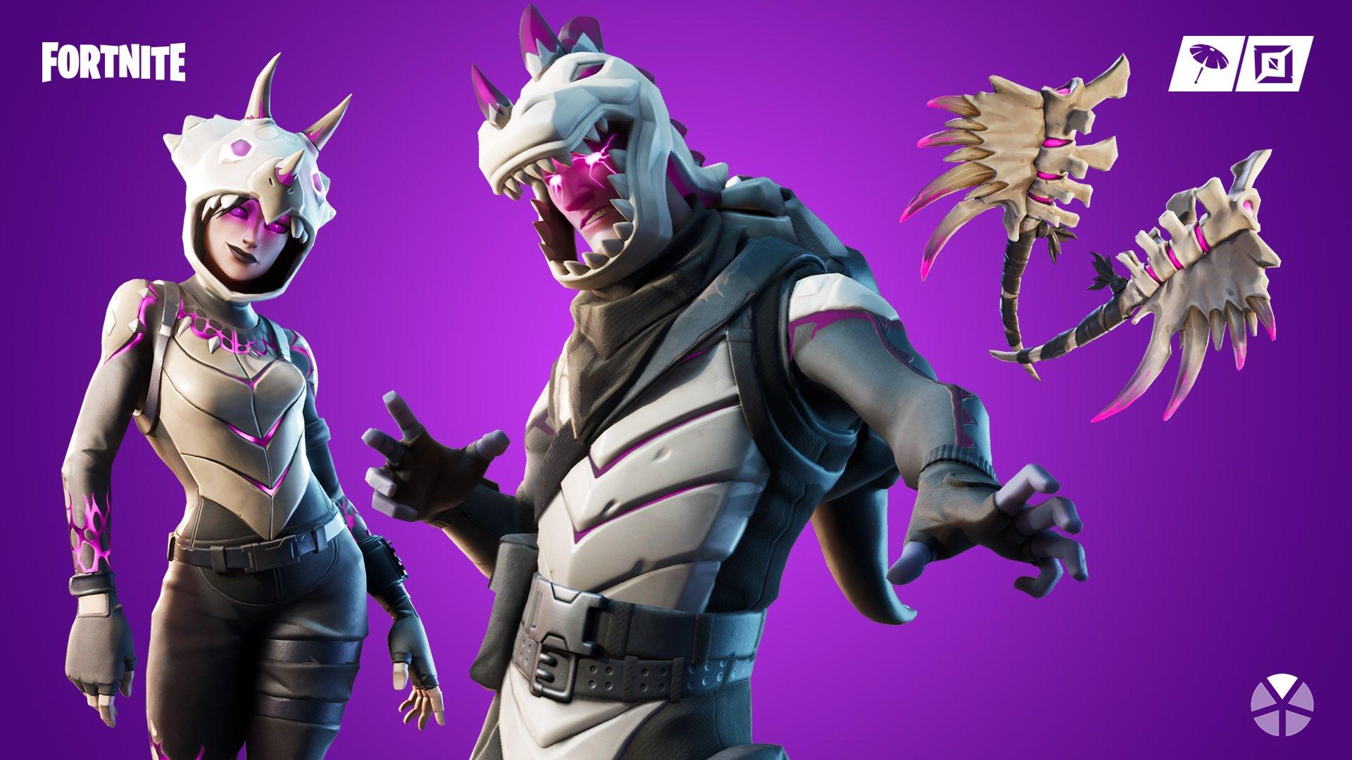 Fortnite Dino Guard Set Dark Rex Outfit Fortnite Wiki