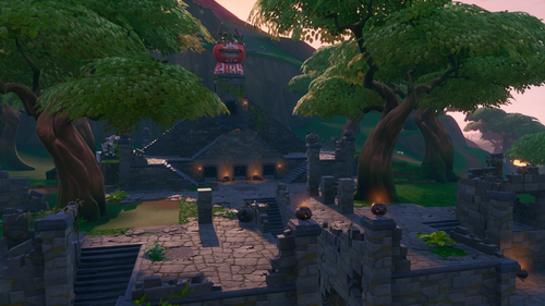 The temple in season 8