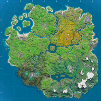 Map of Battle Royale Island