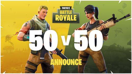 Promotional image for the 50v50 LTM