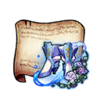 Transparent Rose Boots Diagram Piece