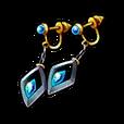 Sapphire Earrings Shard