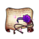 Purple Blossom Headband Diagram Piece
