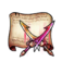 Demonic Destruction Twin-Blade Sword Diagram Piece