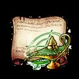 Waving Wisteria Lamp Diagram Piece