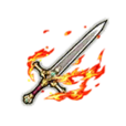 Scarlet Flame Guard's Sword - White-Silver Shard