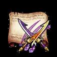 Mystic Hunt Twin-Blades Diagram Piece