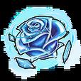 Blue Crystal Rose Shard