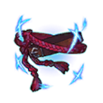 Crimson Woven Sash