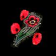 Single Poppy Shard