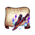 Mystical Barrier Scarlet Katana Diagram Piece