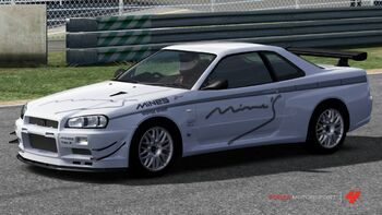 Nissan Mine's R34 Skyline GT-R in Forza Motorsport 4