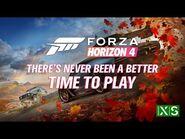 Forza Horizon 4 on the Xbox Series X-S