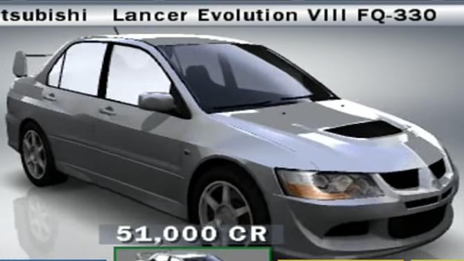 Mitsubishi Lancer Evolution VIII FQ-330
