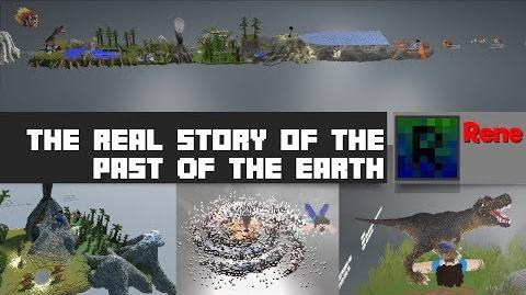 The real story of the past of the Earth (Minecraft 4000 Blocks long build showcase)