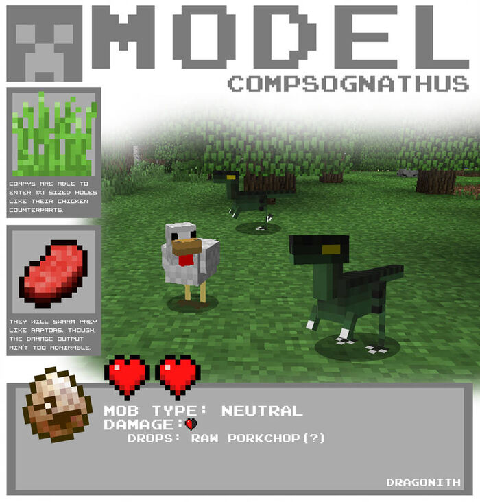 Minecraft compsognathus by dragonith d4co36o-pre.jpg
