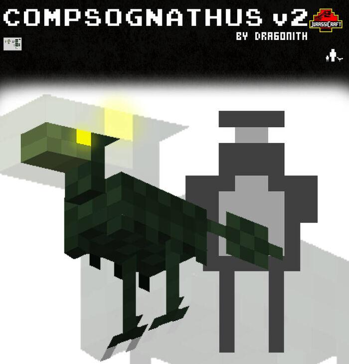 Jurassicraft compsognathus v2 by dragonith d3a2vbz-pre.jpg