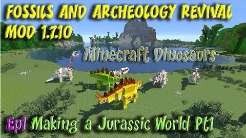 Minecraft Jurassic World Fossils and Archeology Revival Mod Ep1 Making Isla Nublar Pt1