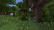 Tyrannosaurus rex in a tropical jungle