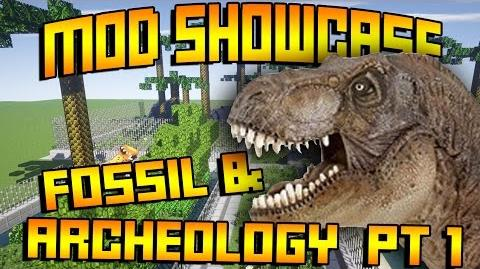 Minecraft Fossils and Archeology - Mod Showcase PT 1 - (Minecraft Dinosaur Mod)