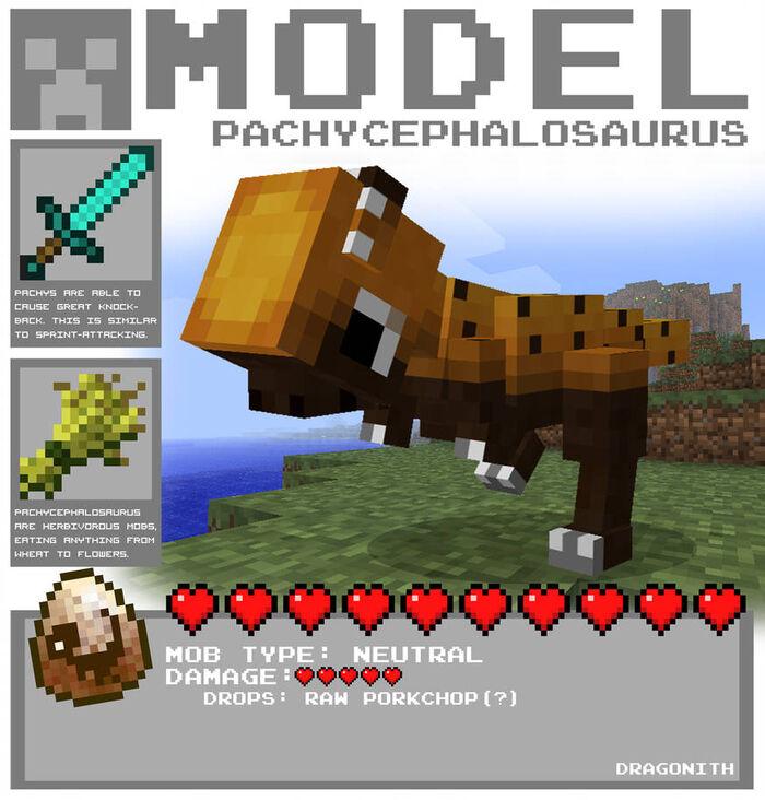 Minecraft pachycephalosaurus by dragonith d4blu8t-pre.jpg