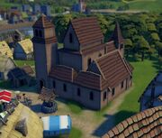 A Legacy Rustic Church example presented in a screenshot of the game.