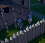 Soldiers guarding an estate