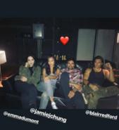 BTS Emma Dumont, Blair Redford, Sean Teale, and Jamie Chung